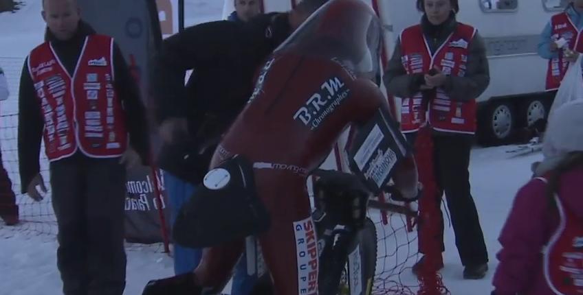 Мировой рекорд скорости на горном велосипеде